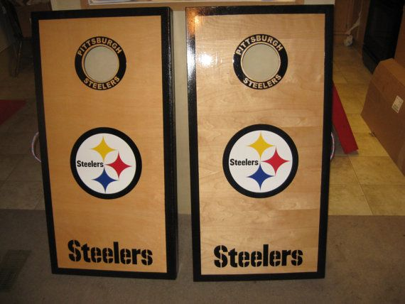 Pittsburgh Steelers Cornhole Boards Set. Completed 5/24/14. | JR ...