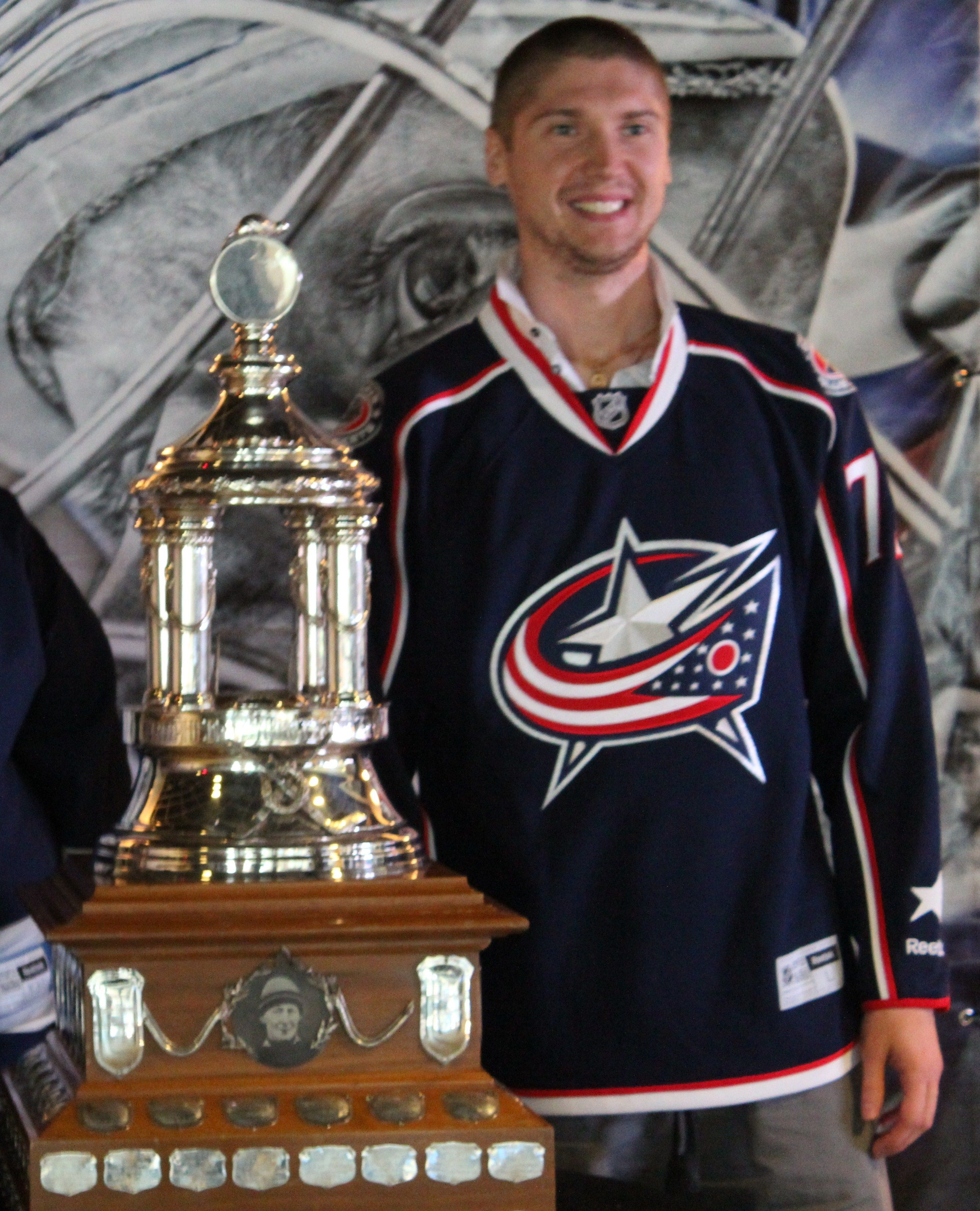 Sergei Bobrovsky and his Vezina  @Columbus Blue Jackets