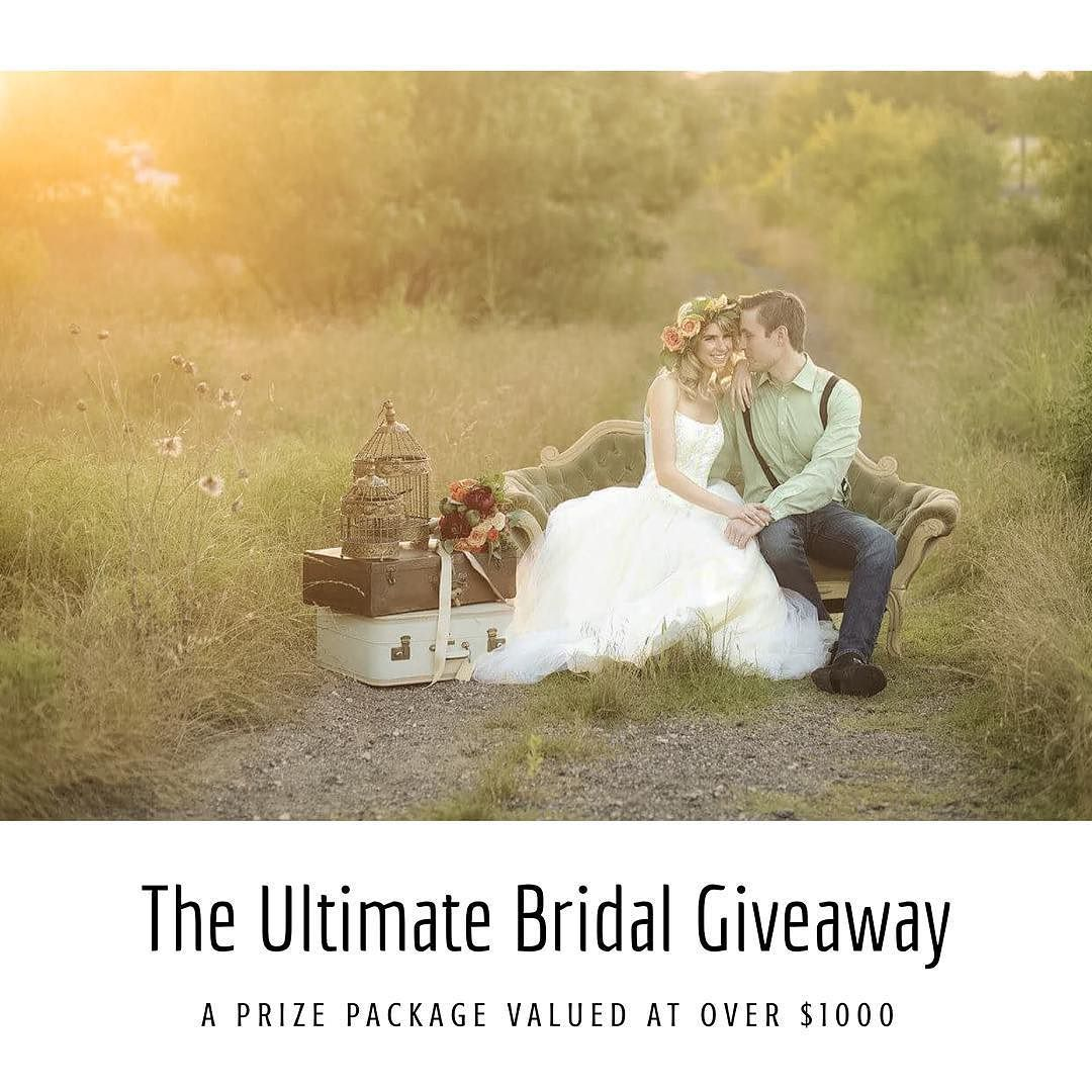 Are YOU or someone YOU KNOW recently engaged?   Want the chance to win a Bridal Prize Package worth over $1000??   Follow the link in my bio for more information.   Tag all your bride-to-be friends!