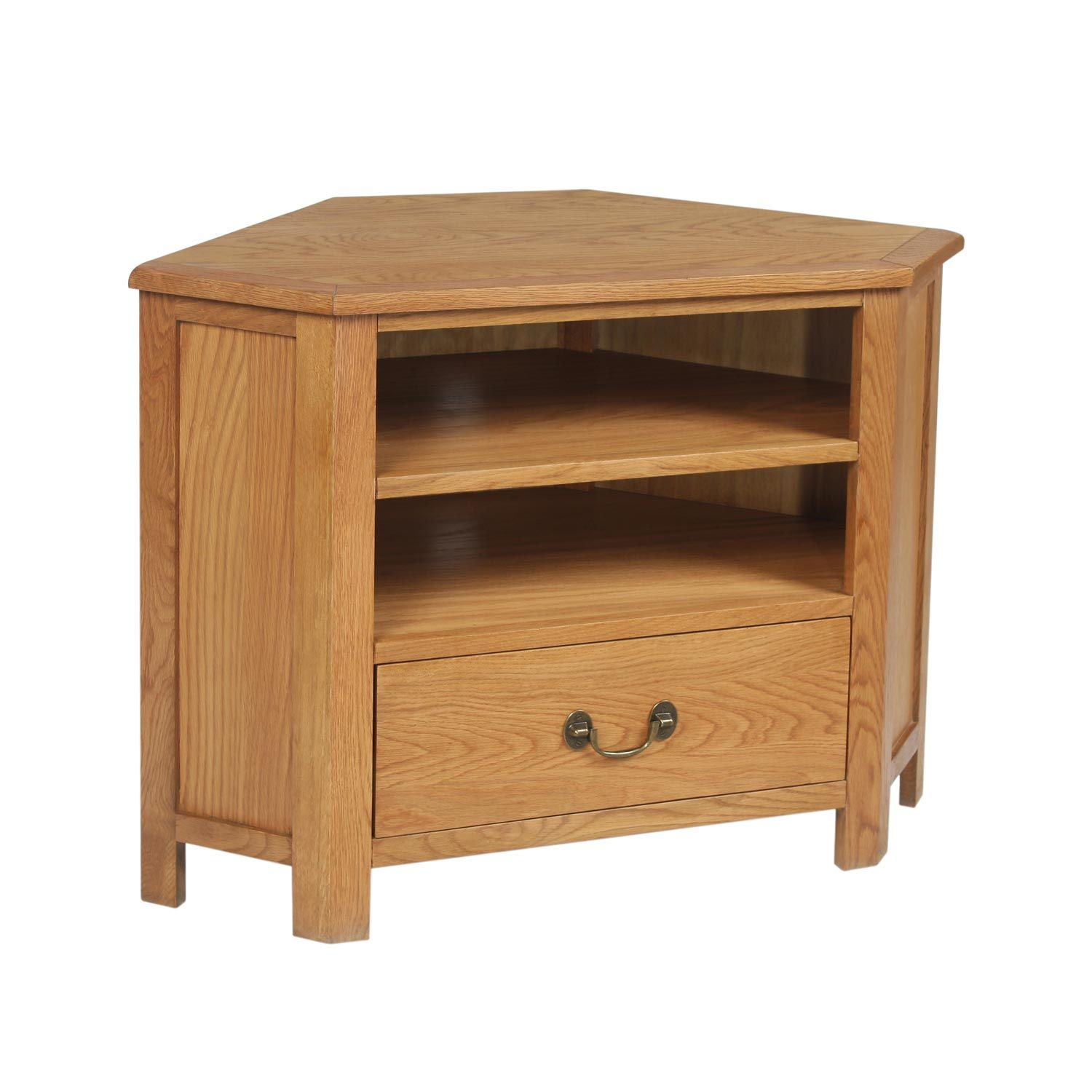Living Room Furniture Tv Corner hampton oak corner tv stand with storage | the range | t.v.