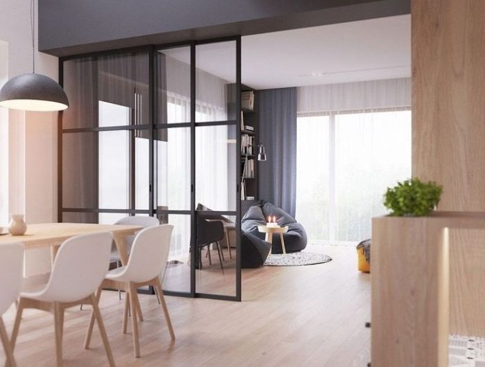 ▷ 1001 + idées pour la cuisine ouverte avec verrière Salons - Salle A Manger Parquet