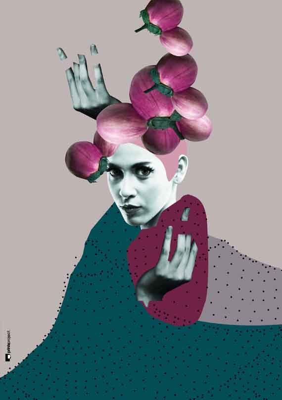 ▲ Woman Wall Art, Collage Wall Art, Fashion Art Print | #poster #graphicdesign #collage by #PrintsProject