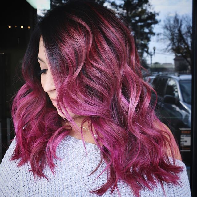 HairMakeup Artist VisaliaCA Makeupbyfrances O Instagram Photos And Videos Magenta Hair