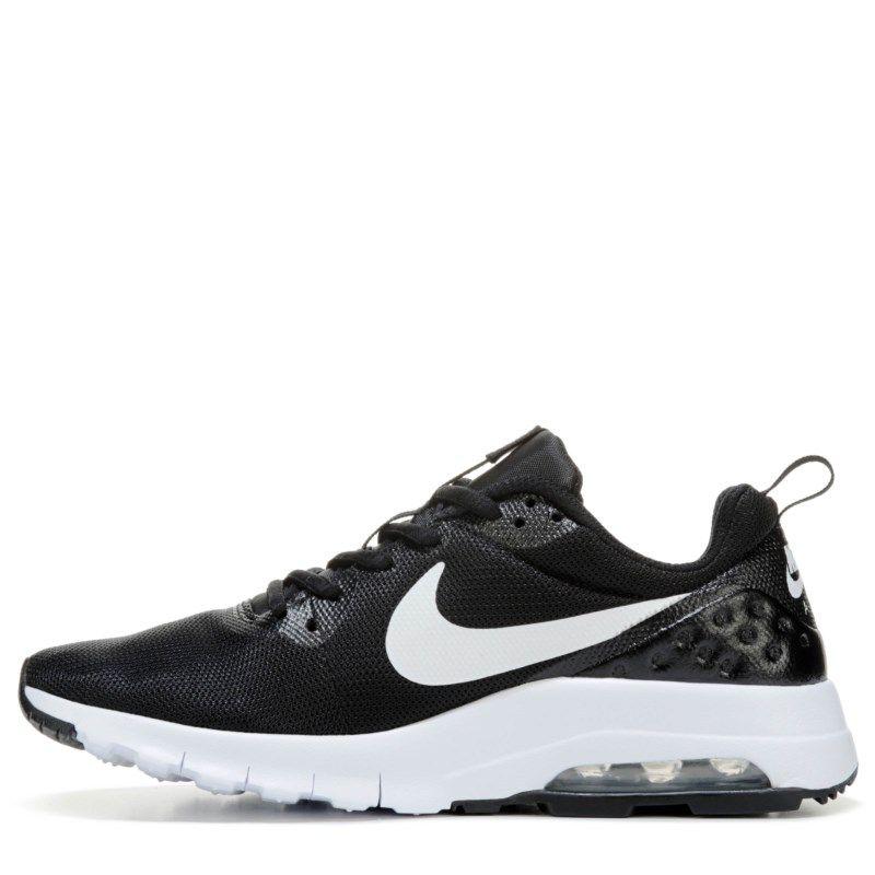 Nike Kids' Air Max Motion Running Shoe Grade School Shoes (Black/White)