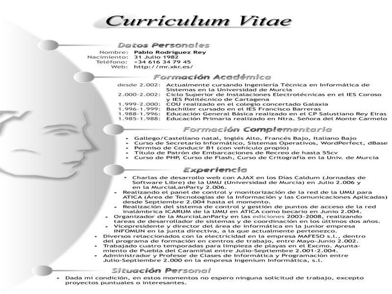 Como Hacer Un Curriculum Vitae Modelos De Curriculum Vitae Como