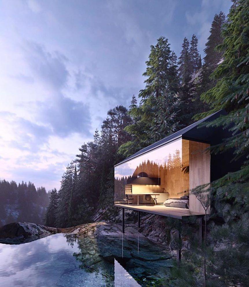 Amazing Architecture Magazine: Hur Drömmigt Att Ha Detta Hus? Bild Från @alex_nerovnya