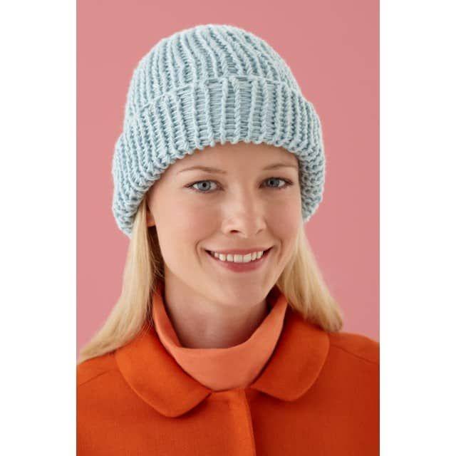 deed1a54609 Loom Double Knit Hat - Lion Brand Yarn