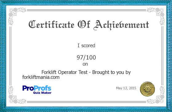 Forklift Operator Test - Brought to you by forkliftmania.com I\'s ...
