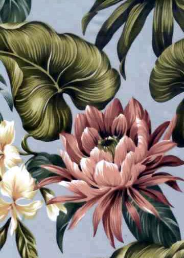 20protea Tropical Botanical Vintage Hawaiian Fabric Hawaiian Botanical Protea Flowers On A Cotton Fabric Estampas Tropicais Almofadas Retro Estampas Florais