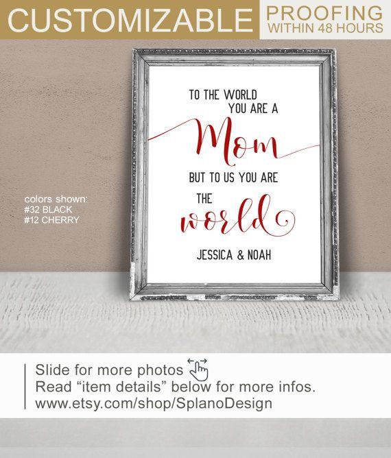 Mothers Birthday Idea Custom Gift For Mom Print Canvas Digital