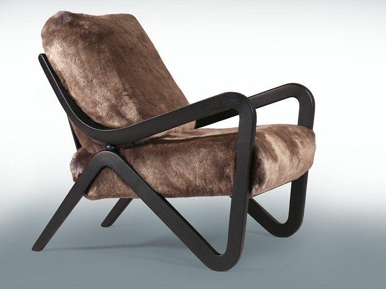 Fur Armchair With Armrests Taylor Fur Armchair By Borzalino