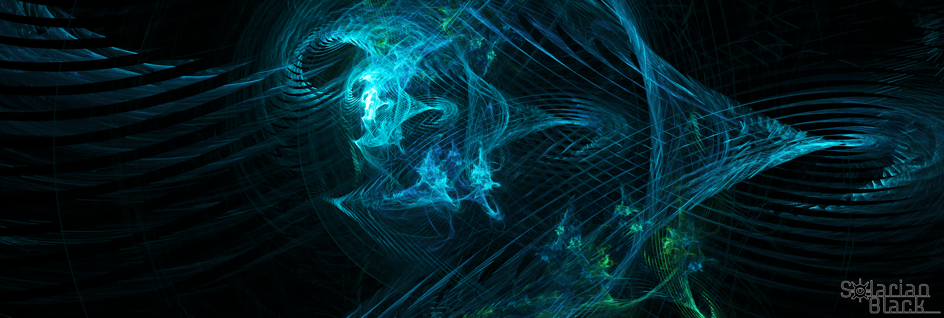solarian black - digital fire multi-monitor [3200x1080] via classy