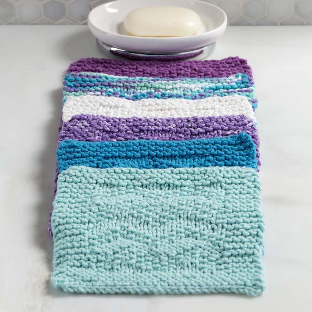 Farmhouse Kitchen Knitted Dishcloth: Premier® Textured Washcloth Set Free Download