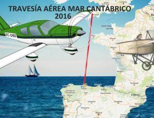 La ruta que realizará el piloto asturiano, con una imagen de la avioneta que utilizará (a la izquierda).