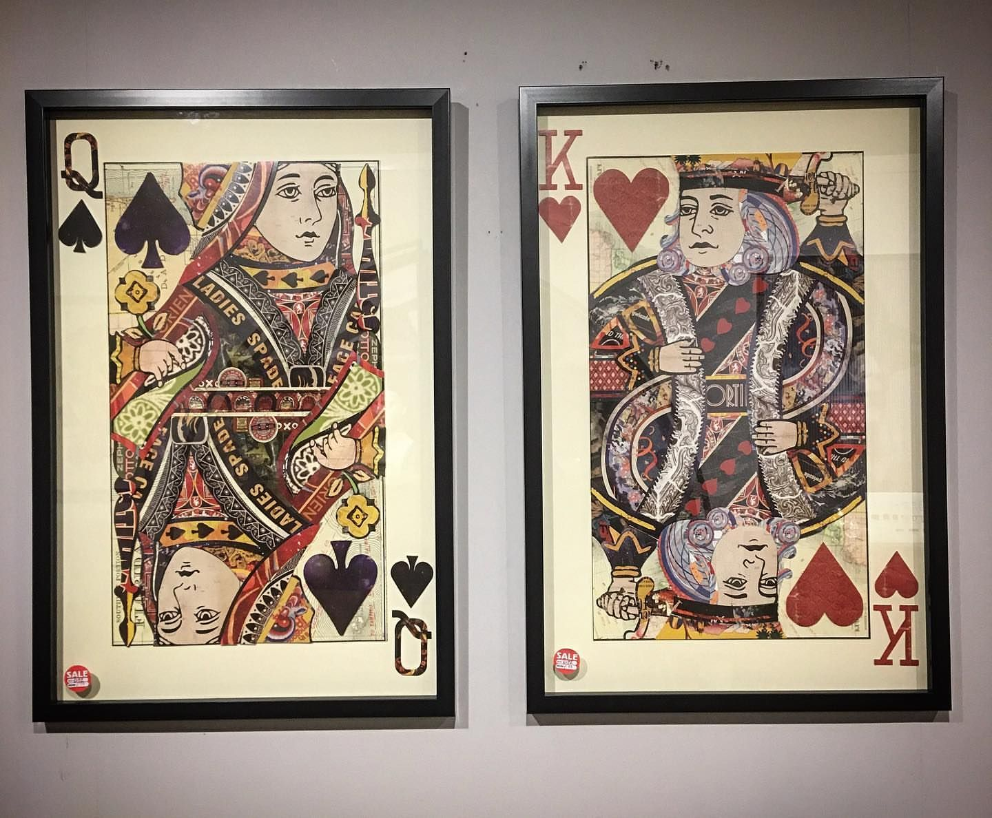 We've just got our playing card collage prints back in store now!