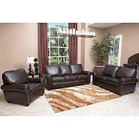 Peachy Maverick Top Grain Leather Sofa Loveseat And Armchair Set Inzonedesignstudio Interior Chair Design Inzonedesignstudiocom
