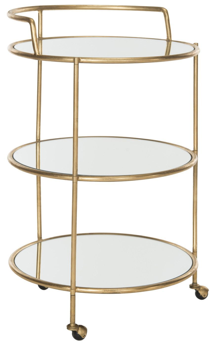 Dulcinea Bar Cart Gold Mirror Top