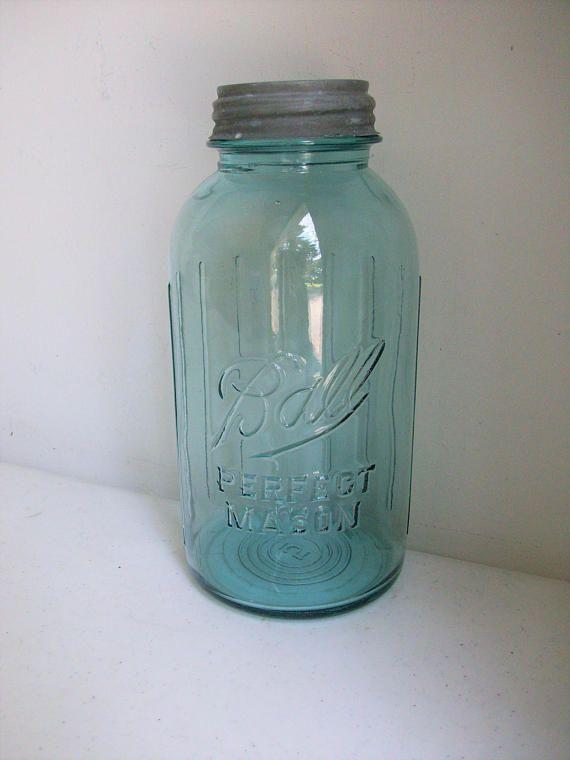 Half Gallon Blue Ball Perfect Mason Jar Zinc Lid Ribbed Mason Jars Gallon Jars Jar
