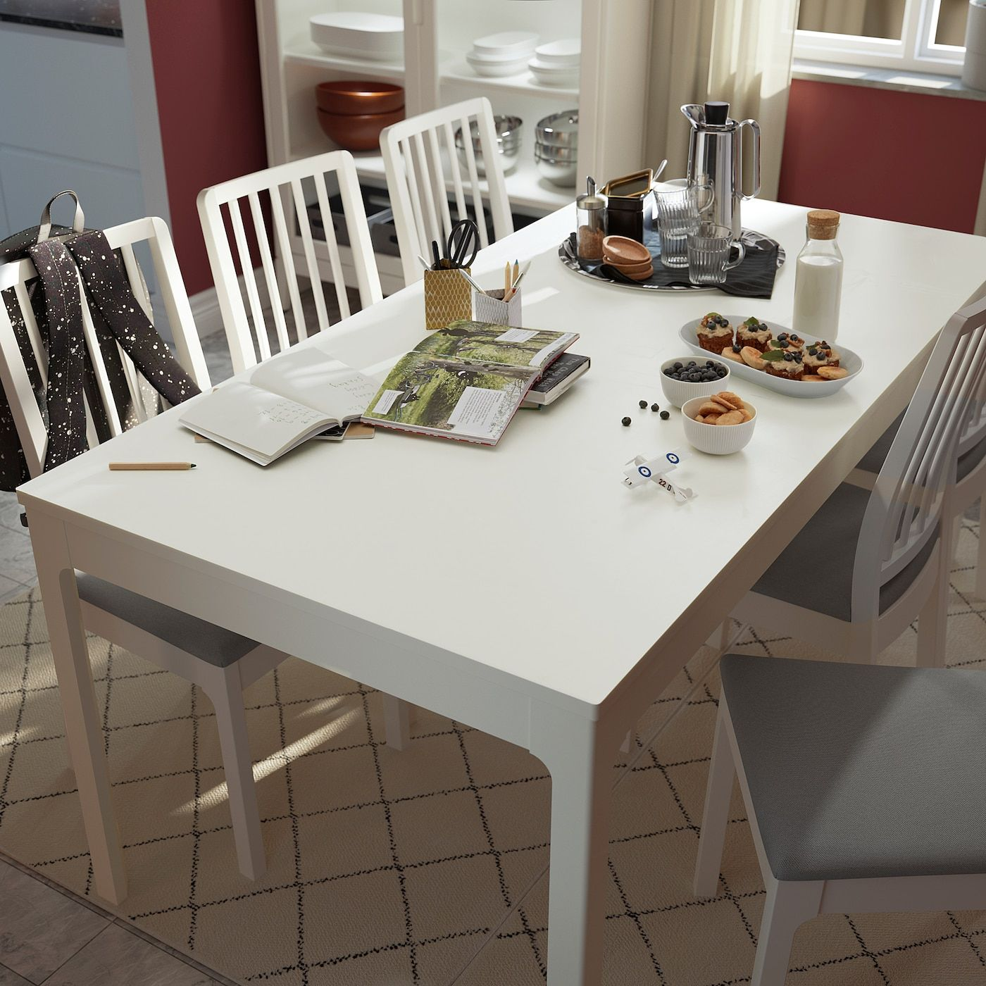 Ekedalen Extendable Table White Ikea Canada Ikea Dining Table Small Space White Kitchen Table Dining Table