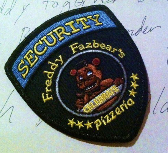 Five Nights At Freddy/'s Security Guard Badge Bonnie Chica Foxy Iron On Patches