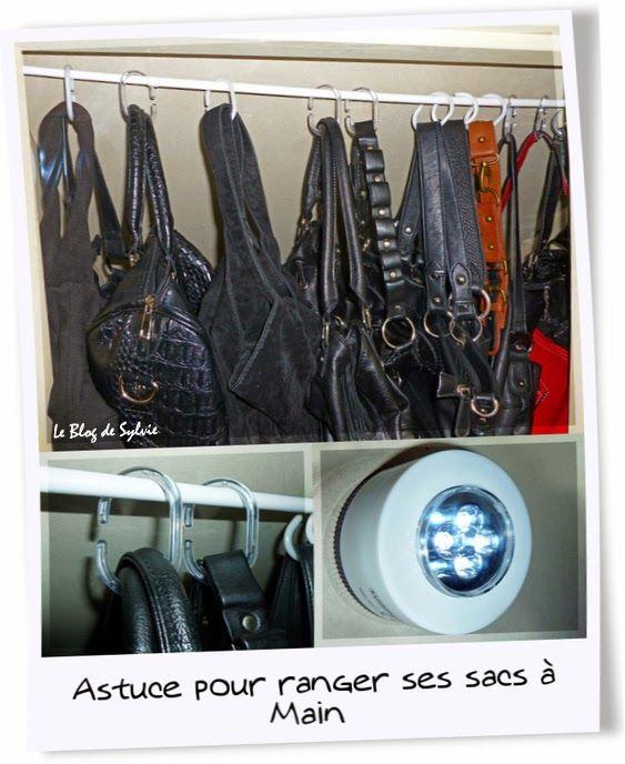 le blog de sylvie astuce brico pour ranger ses sacs main essayer pinterest ranger le. Black Bedroom Furniture Sets. Home Design Ideas