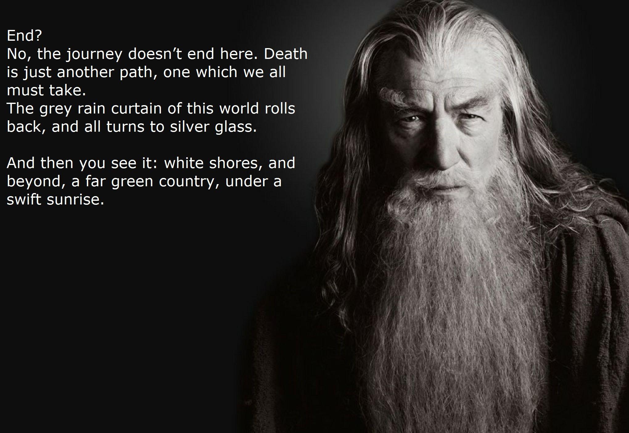 A description of the journey to death