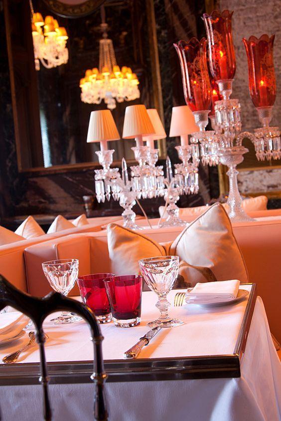 Le Cristal Room Baccarat Baccarat Elegant Dining Decor