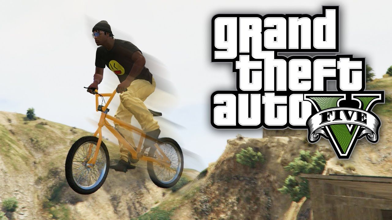 Gta 5 Online Surviving A Giant Bike Jump Gta V Online Giant
