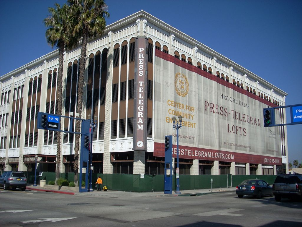 The PressTelegram building, 6th St. and Pine Ave., Long