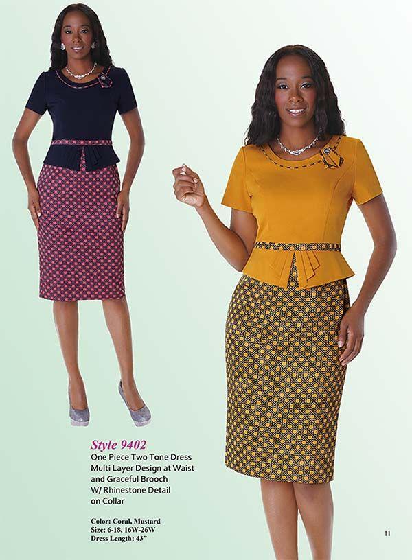 Tally Taylor 9402 Womens Two Tone Multi Layer Design Dress Fashion