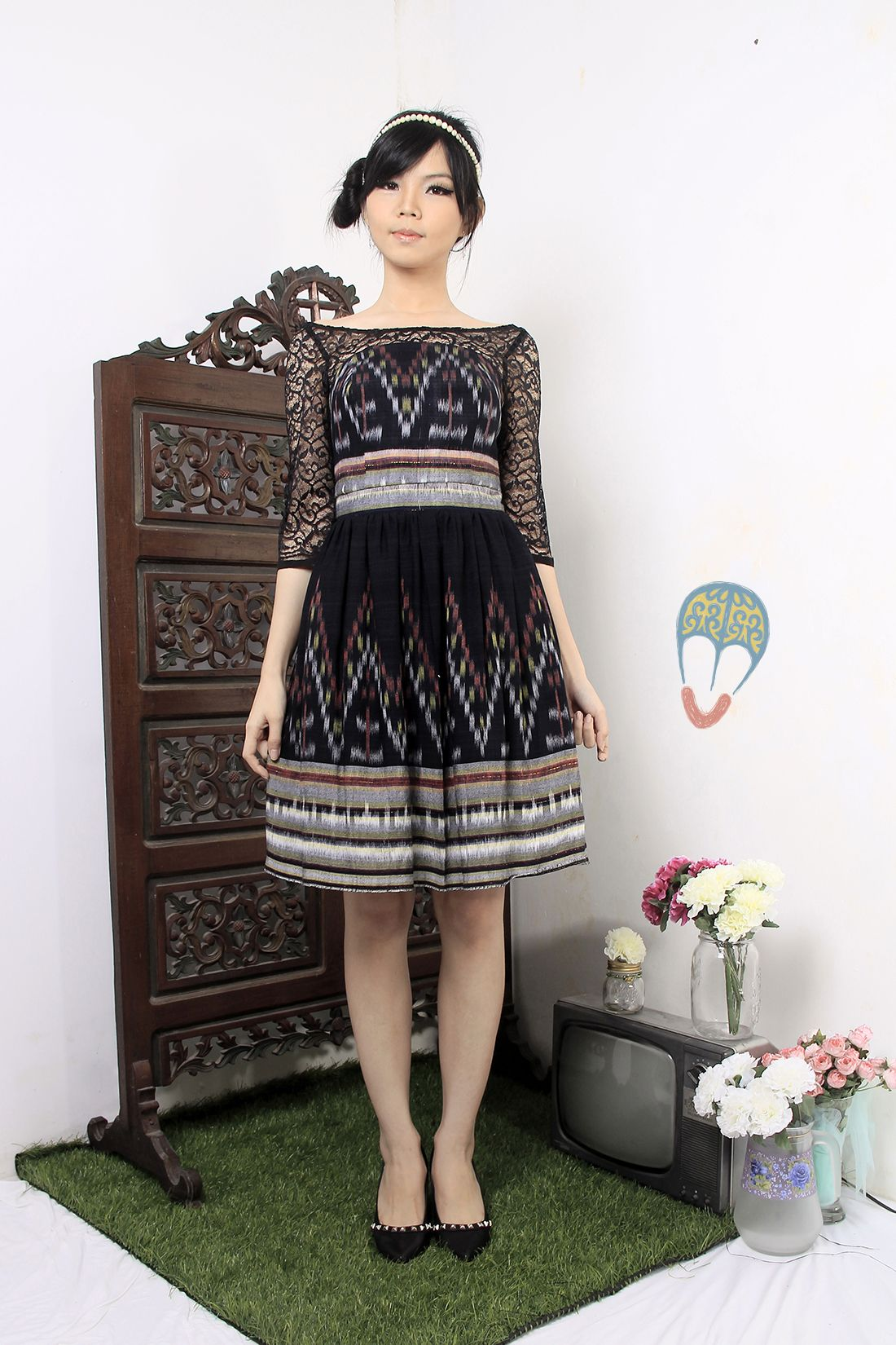 Ikat dress | Pendapa Cemeng Dress | DhieVine | Redefine You