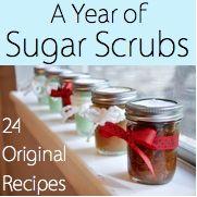 Recipes for Sugar Hand/ Foot Scrubs: Peppermint, Brown Sugar & Honey, Sugar Cookie.