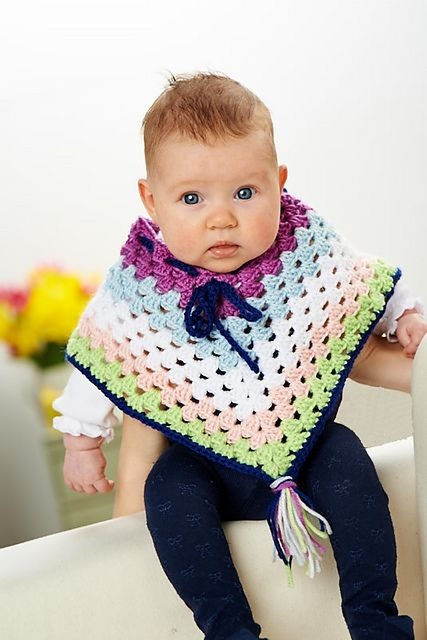 FREE PATTERN FRIDAY ** Crochet a cute poncho for baby with Jackie ...