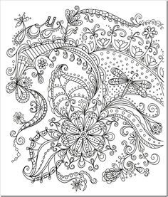Coloring Stress Relief Doodle Coloring Pattern Art Coloring Pages