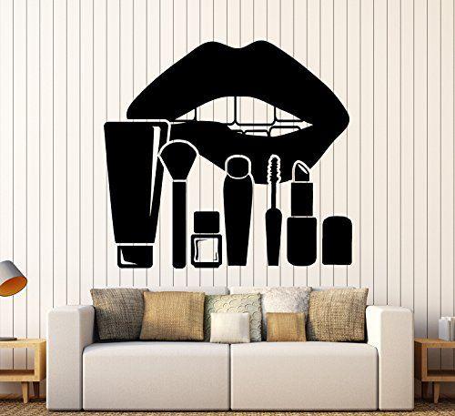Makeup Lip Eye Beauty Salon Vinyl Sticker Decoration Wall Decals Mural Removable