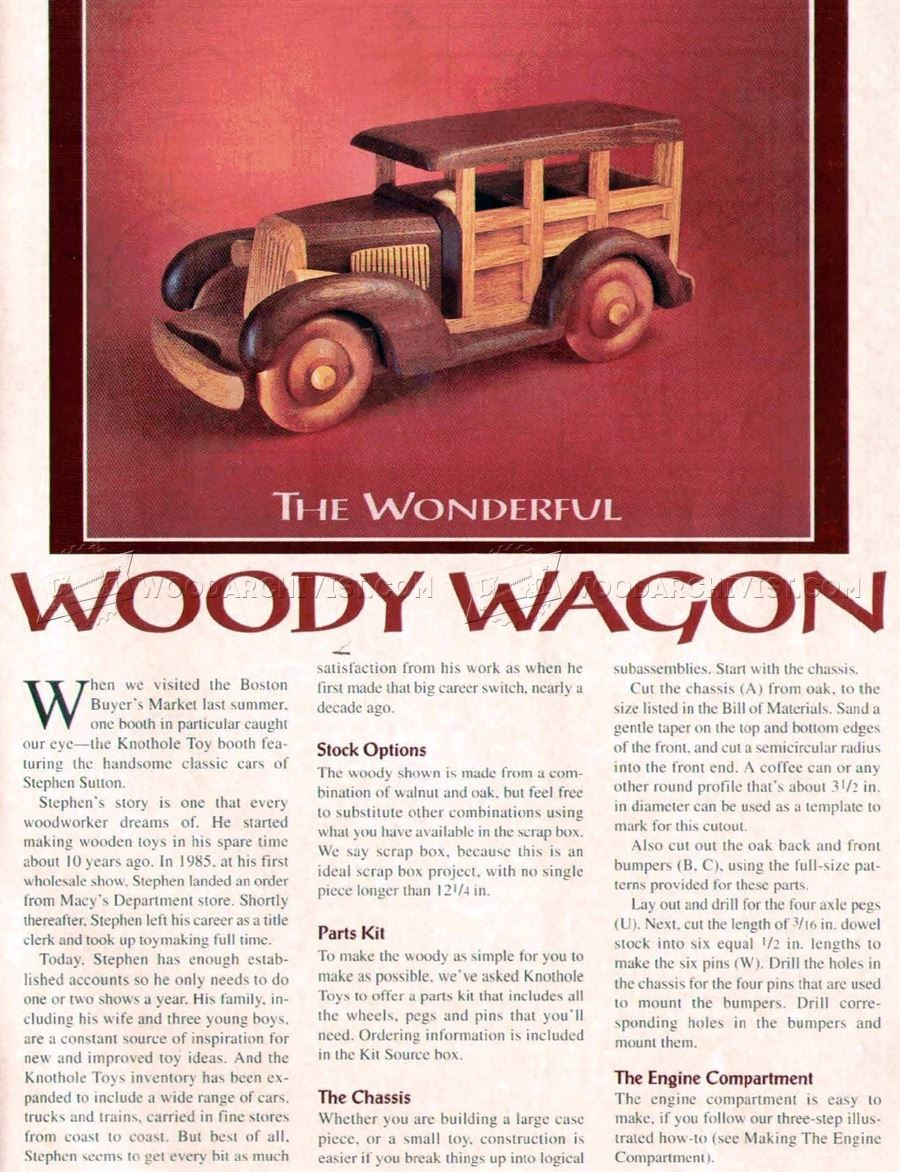 woody wagon plans - wooden toy plans | woodworking | wooden