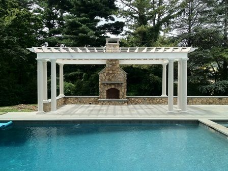 Outdoor Addition ~ Patio, Pergola, Fireplace U0026 Chimney, New Canaan, ...