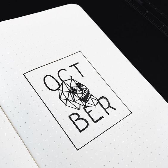   October Bullet Journal Layouts   Halloween Inspired Bullet Journal  