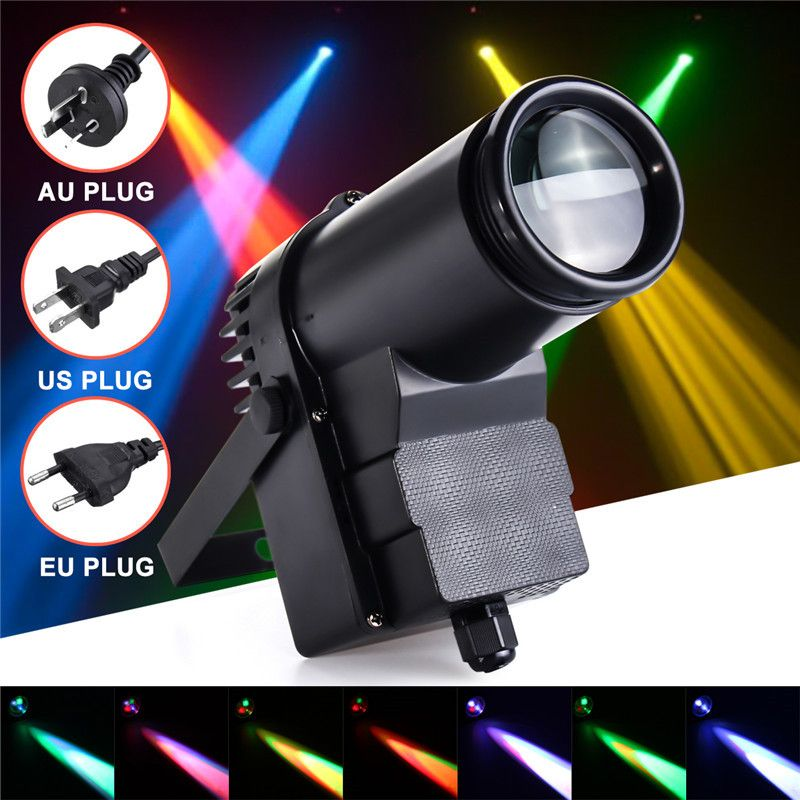 New 10w Dmx Rgbw Led Stage Light Pinspot Light Beam Spotlight 6ch Professional Disco Ktv Dj Stage Lighting Effect Ac 110 240 Podium Verlichting Lichtbundel Led