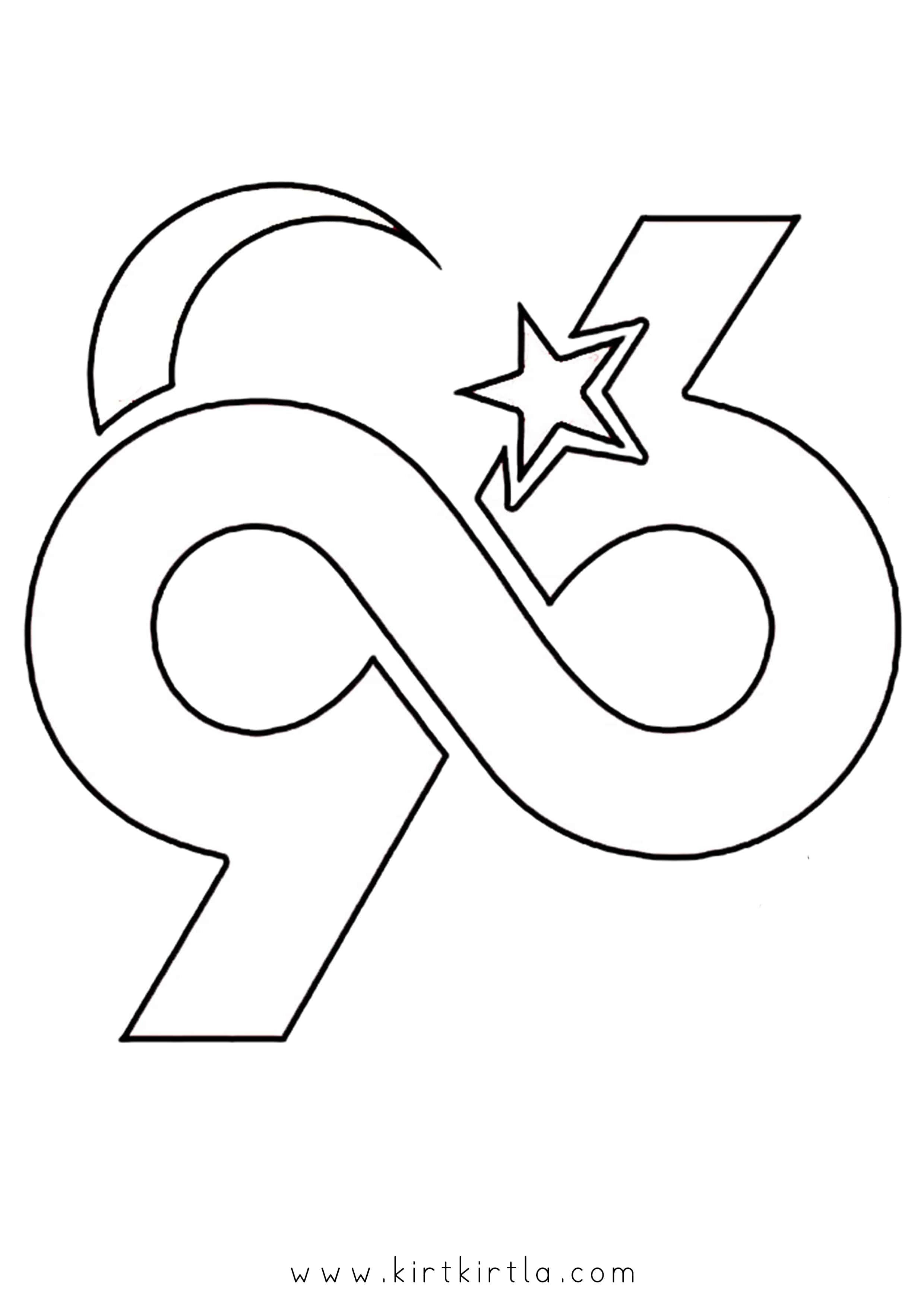 29 Ekim Boyama Sayfalari Lettering Symbols Art