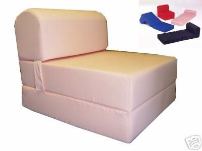 Peach Sleeper Chair Folding Foam Bed Sized Thick X Wide Long Studio Guest Foldable Beds Sofa Couch