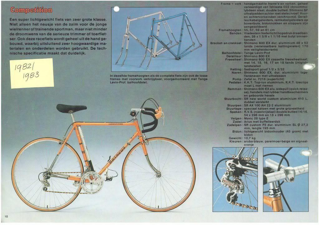 Verwonderlijk Batavus bicycle catalogs - | Batavus criterium / course 1980 ES-66
