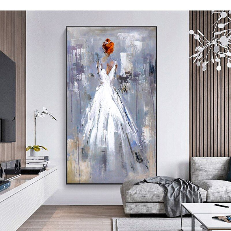 Abstract Big City Buildings 100 Hand Painted Oil Painting On Canvas Handmade Wall Art Pictures For Living Room Home Decor Romantic Wall Art Handmade Wall Art Canvas Art Wall Decor