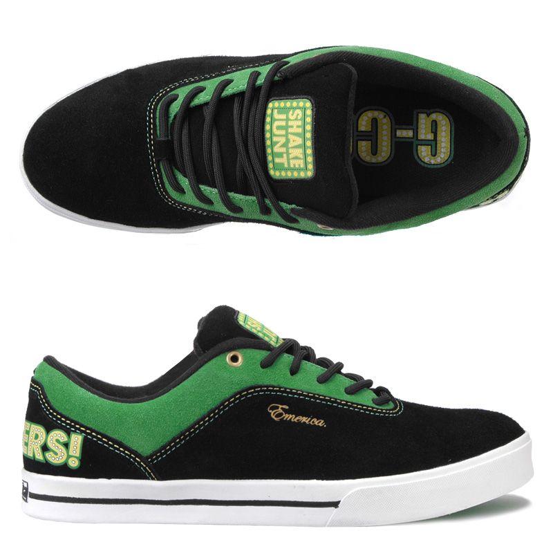 7b4a21ccef Emerica G-Code Shake Junt Black Green Gold