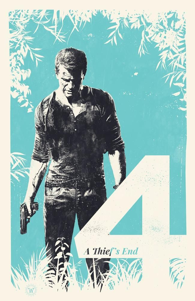 Uncharted 4 Poster By Billpyle On Deviantart In 2020 Video Game