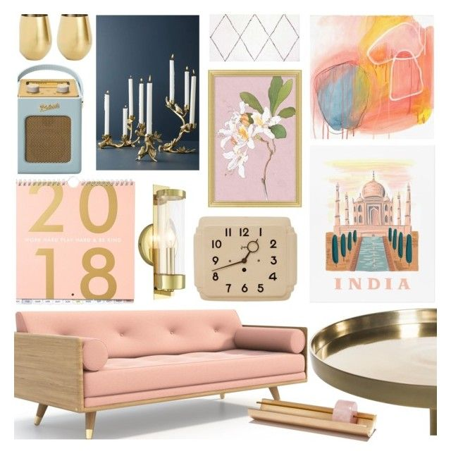 """""""Untitled #1778"""" by cutandpaste ❤ liked on Polyvore featuring interior, interiors, interior design, home, home decor, interior decorating, Pottery Barn, Anthropologie, Roberts and Livex"""