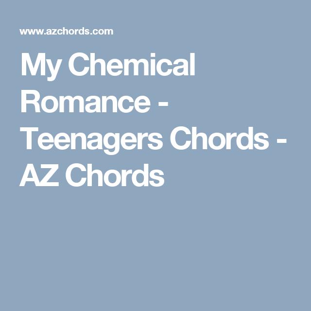 My Chemical Romance Teenagers Chords Az Chords Ukulele
