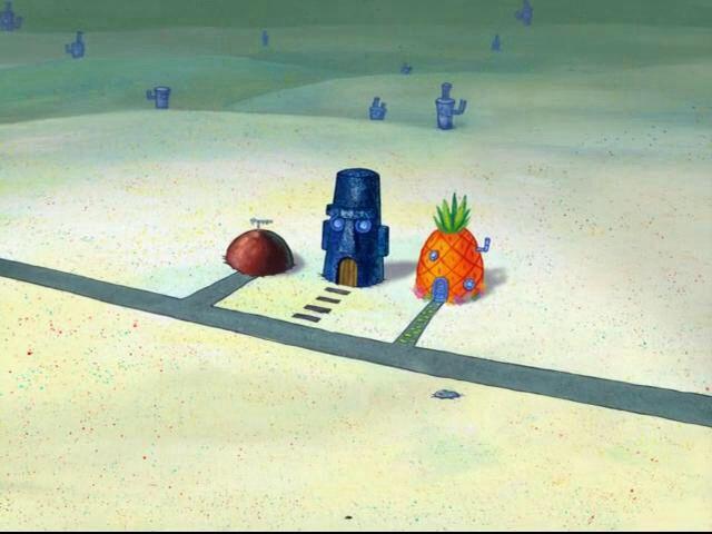 Spongebob patrick and squidward house