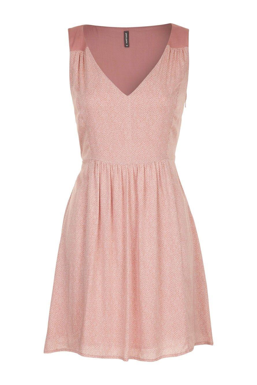 Robe plumetis fluide rose poudre Naf Naf    WISH LIST  CLOTHES ... 062c6d6940fd
