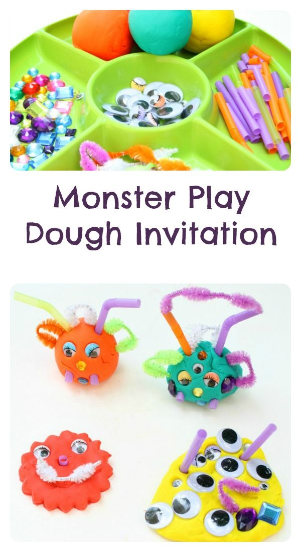 Monster Play Dough Invitation - Fantastic Fun & Learning